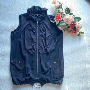 Claire France dark blue sleeveless vest size 16
